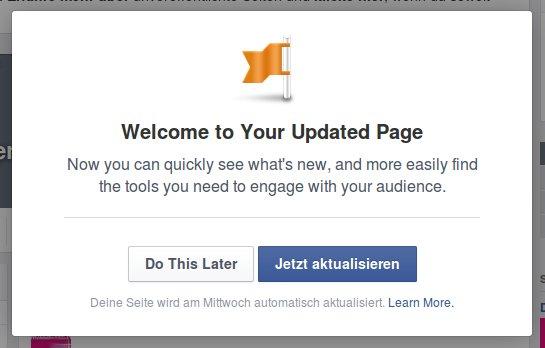 Facebook Fanpage Update 2014