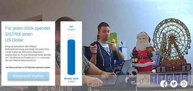 Sistrix Livecam-Riesenrad Spendenaktion
